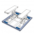 Installation box for floor-level installation, incl. mounting frame
